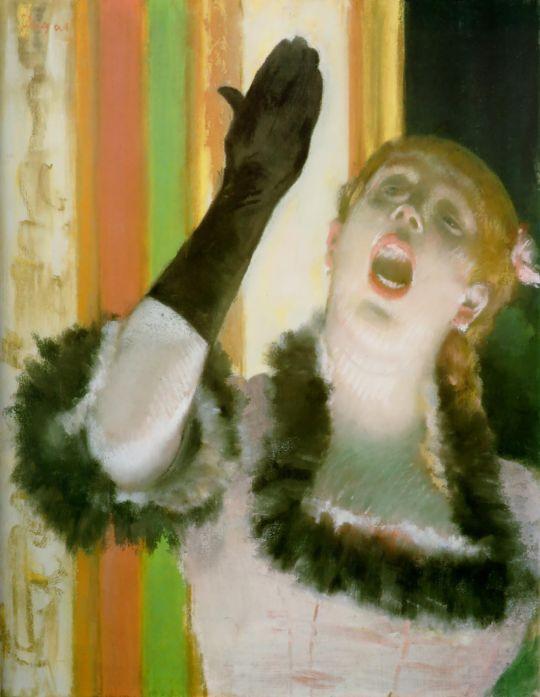 Певица с чёрной перчаткой (1878) (53 х 41) (Кембридж, музей Фогга)