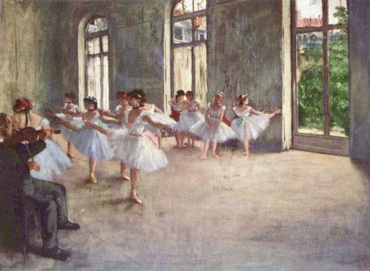 Репетиция (1873-1878) (Гарвардский университет, Художественный музей Фогга)