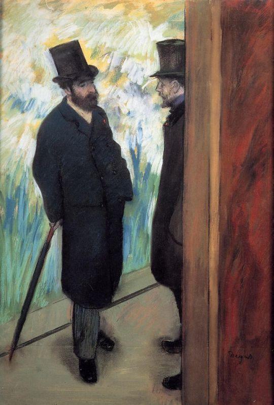 Друзья в театре, Людовик Галеви и Альберт Хелви (1879) (Париж, Музей Орсэ)