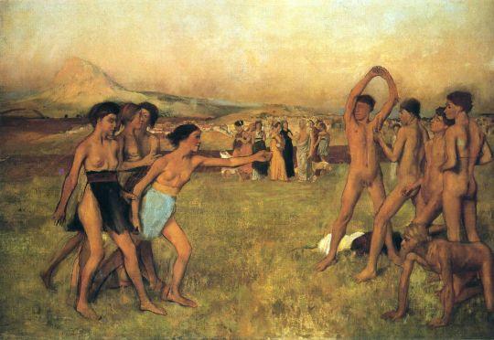 Упражнения юных спартанцев (эскиз) (1860) (Гарвардский университет, музей Фогга)