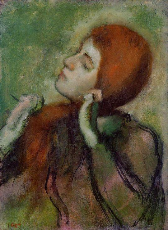 Женщина, расчёсывающая свои волосы (ок.1894) (Дания, коллекция Ordrupgaard)