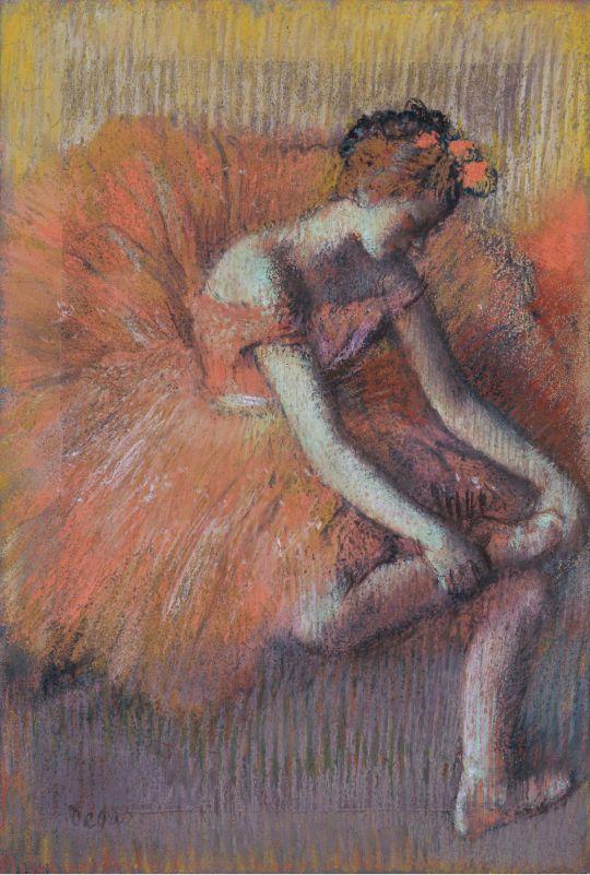 Танцовщица,поправляющая пуант (1896) (частная коллекция)