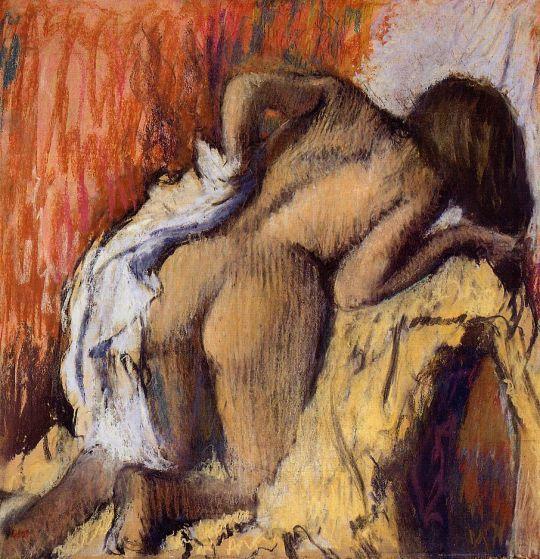 Женщина, вытирающая тело (1896-1898) (Эдинбург, Нац. галерея Шотландии)