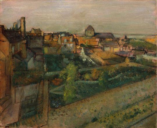 Вид на Сен-Валери-сюр-Сом (1896-1898) (50.8 х 61) (Нью-Йорк, Метрополитен)