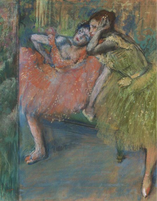 Танцовщицы в комнате отдыха (1901) (частная коллекция)