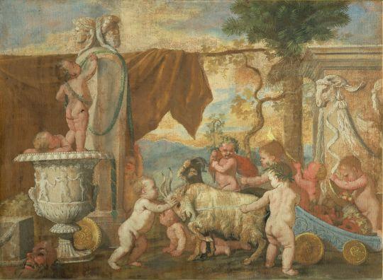 Вакханалия с путти (1626) (56 х 76.5) (Рим, Нац. галерея антики)