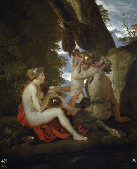 Вакхическая сцена (1630-1631) (74 x 60) (Мадрид, Прадо).