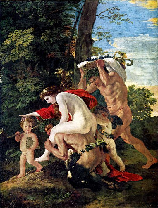 Вакхическая сцена (ок.1626) (96 х 75) (Кассель, Музей земли Хессе)