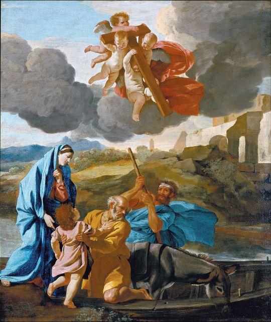 Возвращение святого семейства из Египта (ок.1628-1638) (117.8 х 99.4) (Лондон, картинная галерея Далвич)