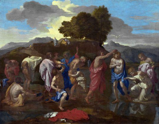 Крещение Христово (1641-1642) (95.5 х 121) (Вашингтон, Нац. галерея)