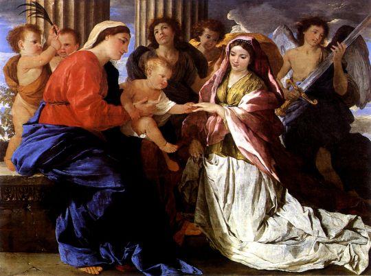 Мистическое обручение св Екатерины (1627-1630) (Эдинбург, Нац. галерея Шотландии)