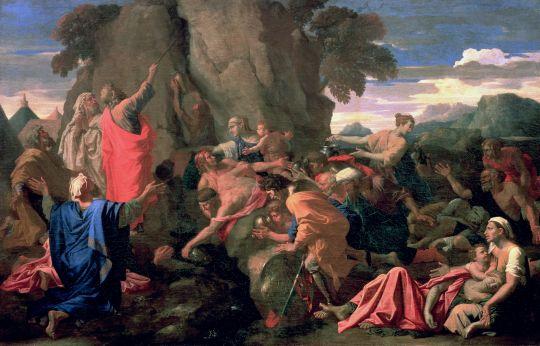 Моисей, иссекающий воду из скалы (1649) (122.5 x 191) (С-Петербург, Эрмитаж)