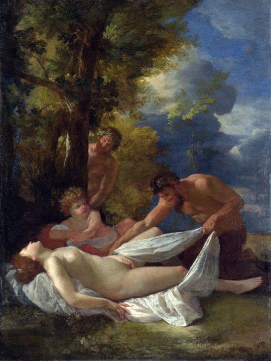 Нимфа и сатиры (ок.1627) (Лондон, Национальная галерея)