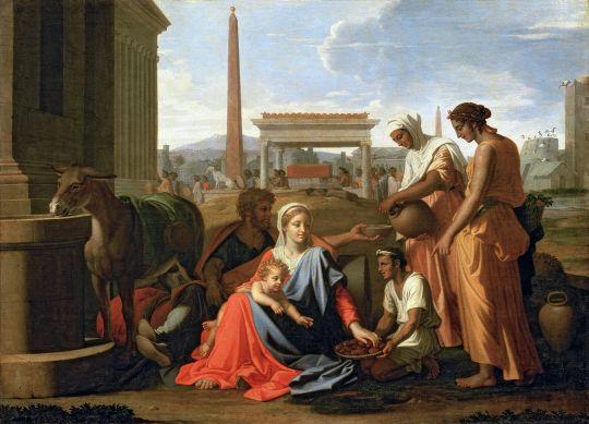 Святое Семейство в Египте (1655-1657) (105 x 145) (С-Петербург, Эрмитаж)