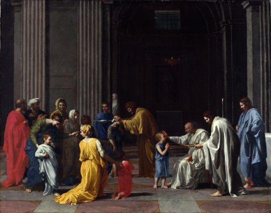 Таинства Церкви. Миропомазание (1637-1640) (Лондон, Национальная галерея)