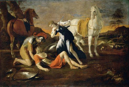 Танкред и Эрминия (поздние 1620-е, ранние 1630-е) (98.5 x 146.4) (С-Петербург, Эрмитаж)