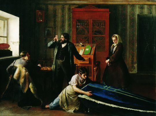 В лавке гробовщика. 1860-е