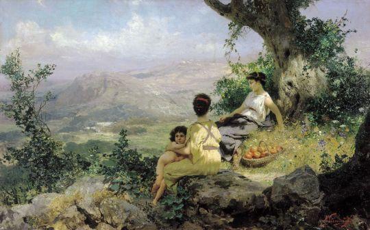 Отдых. 1890. Холст, масло