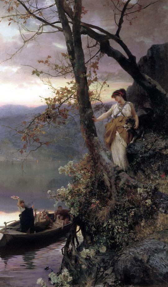 Сцена из римской жизни. 1883. Холст, масло