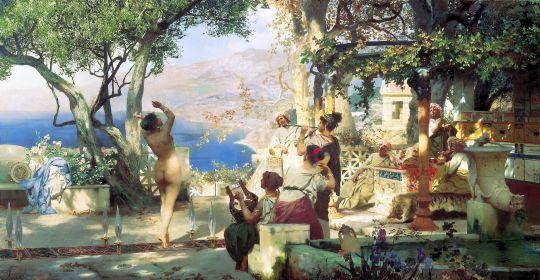 Танец среди мечей. 1881. Холст, масло