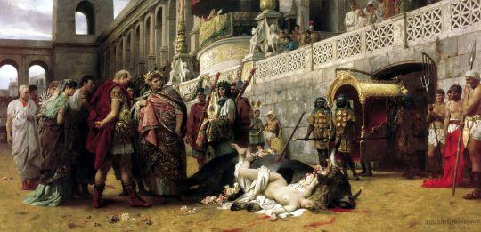 Христианская Дирцея в цирке Нерона. 1898. Холст, масло