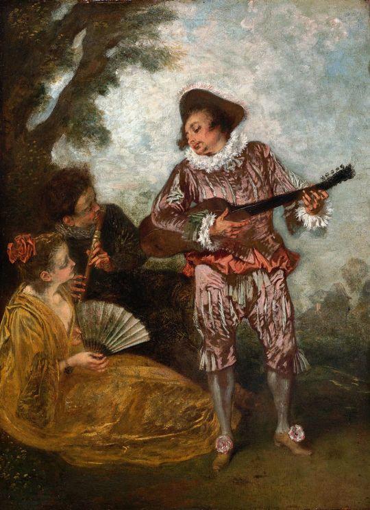 Le Lorgneur (ок.1716) (32.4 x 24) (США, Ричмонд, Музей искусств)