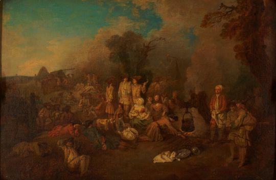 Бивуак (1709-1710) (32 х 45) (Москва, ГМИИ им.Пушкина)