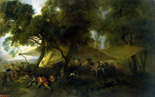 Военный роздых (1715) (21.5 x 33.5) (С-Петербург, Эрмитаж)