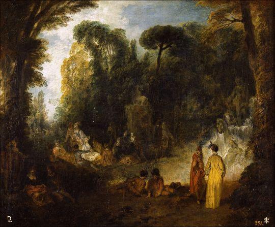 Общество в парке (1712-1713) (47,2 x 56,9) (Мадрид, Прадо)