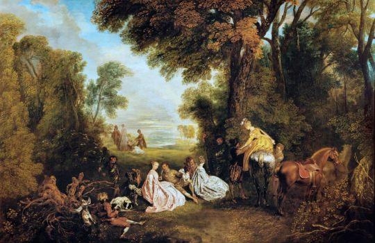 Перед охотой (1720) (124 х 187) (Лондон, собрание Уоллеса)_