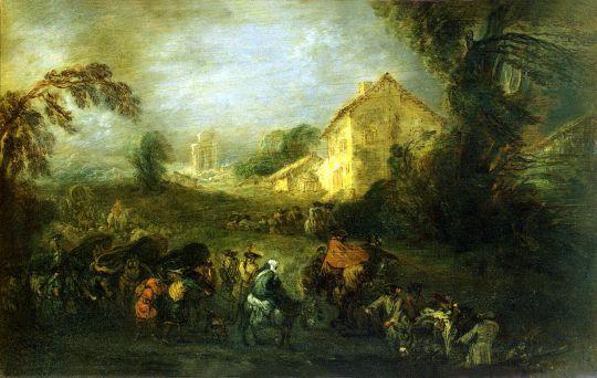 Тяготы войны (1715) (21.5 x 33.5) (С-Петербург, Эрмитаж)