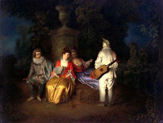 Четвёрка (ок.1713) (49,5 ? 64.9) (Сан-Франциско, Музей изящ.искусств)