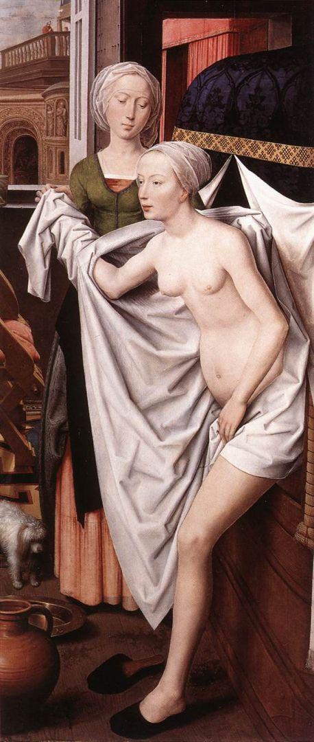 Вирсавия (ок.1480) (191.5 ? 84.5) (Штутгарт, Музей земли Баден-Вюртемберг)