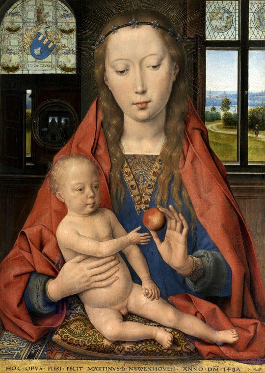 Диптих Мартина ван Ньювенховена_левая панель. Мадонна с младенцем (44 х 33)