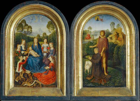 Диптих Яна де Келлера (ок.1489)  (25 x 15) (Париж, Лувр)