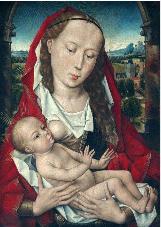 Мадонна с младенцем (ок.1475) (40 x 29) (Брюссель, Королевский музей изящ.искусств)