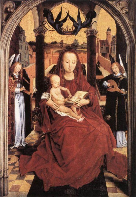 Мадонна с младенцем и двумя музицирующими ангелами (1465-1467) (75,4 х 52,3) (Канзас-Сити, Музей Нельсона Аткинса)