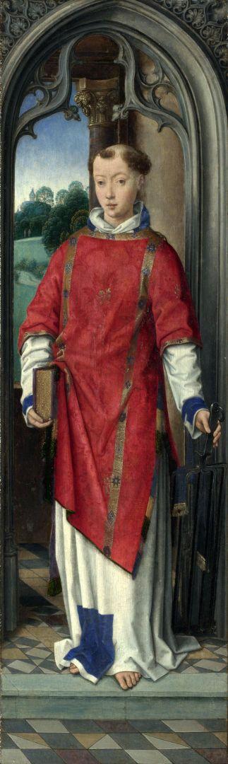 Панели триптиха. Св.Лаврентий (Лондон, Нац. галерея)