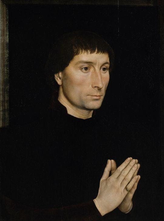 Парный портрет. Томмазо ди Фолько Портинари (ок.1470) (ок.1470) (44.1 x 34) (Нью-Йорк, Метрополитен)