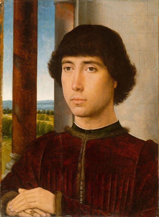 Портрет молодого человека (ок.1482) (40 x 29) (Нью-Йорк, Метрополитен)