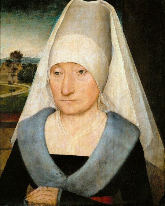 Портрет пожилой женщины (1470-1475) (35 х 29) (Париж, Лувр)