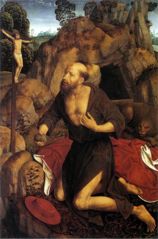 Св.Иероним (1485-1490) (86,5 x 58) (Базель, Музей изобраз. искусств)