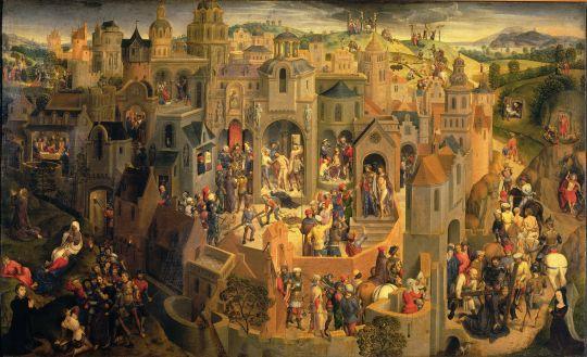Сцены страстей Христовых (1470-1471) (56.7 x 92.2) (Турин, Галерея Сабауда)