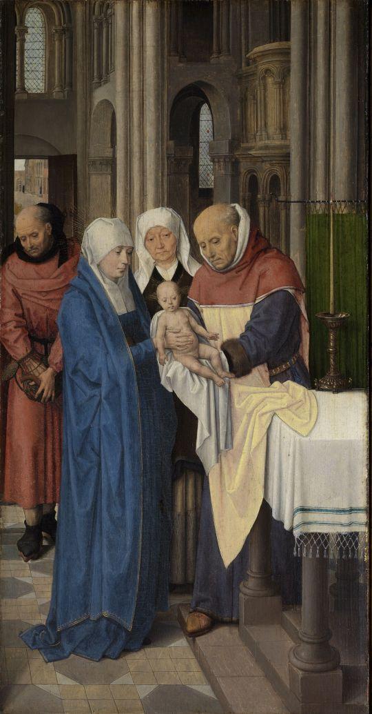 Триптих Яна Флорейнса (открыт)-правая панель. Принесение во храм (48 х 25)