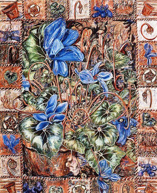 Ковер-сад для синих бабочек
