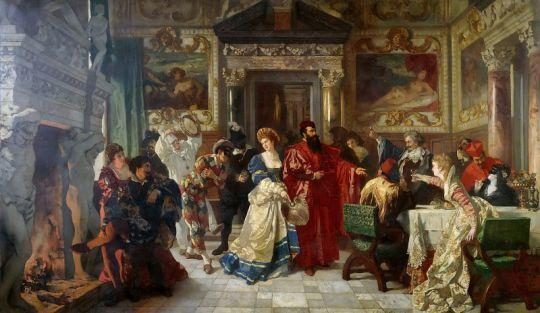 Сцена венецианского карнавала