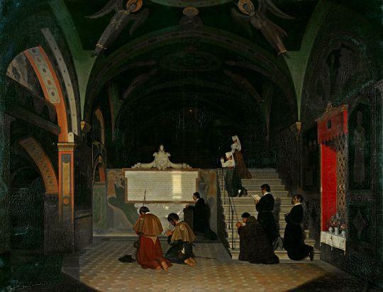 Святая лестница в монастыре св Бенедикта в Субьяко