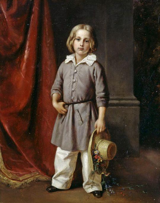Карл Бегас Младший в детстве