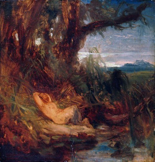 Фавн, спящий в камышах