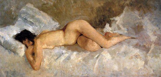 Лежащая обнаженной женщина
